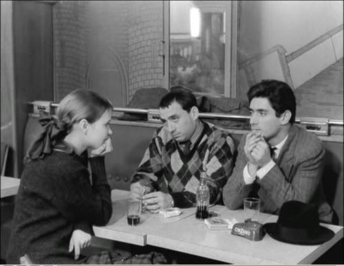 Anna Karina, Claude Brasseur and Sami Frey