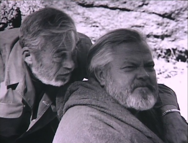 John Huston and Orson Welles