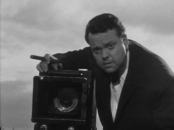 Welles in his short-lived BBC series, Around the World with Orson Welles.