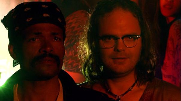 Mario Van Peebles and Rainn Wilson