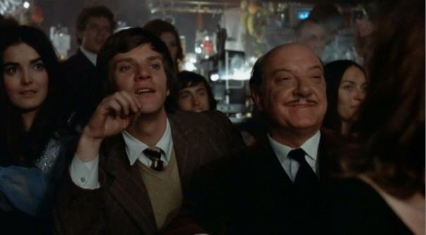 Malcolm McDowell and Arthur Lowe