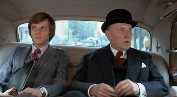Malcolm McDowell and Ralph Richardson